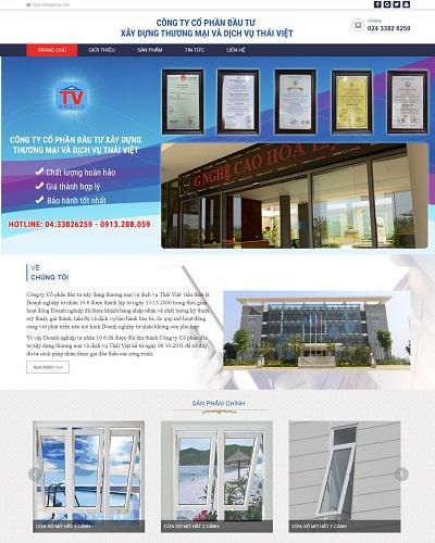 Mẫu website doanh nghiệp MS20