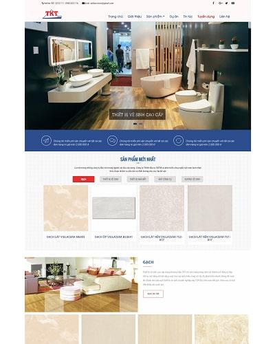 Mẫu website thiết bị MS22