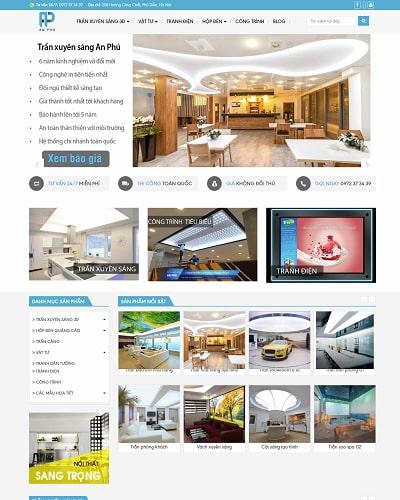 Mẫu website nội thất MS26