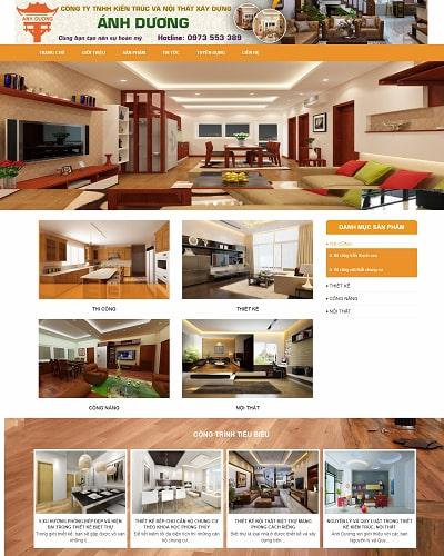 Mẫu website nội thất MS33