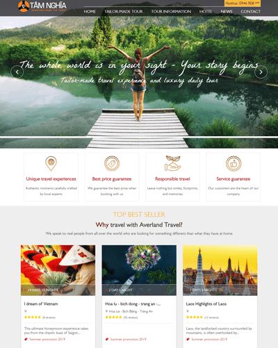 Website Du Lịch MAU85