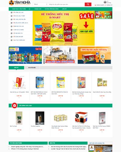 Mẫu web siêu thị MAU101