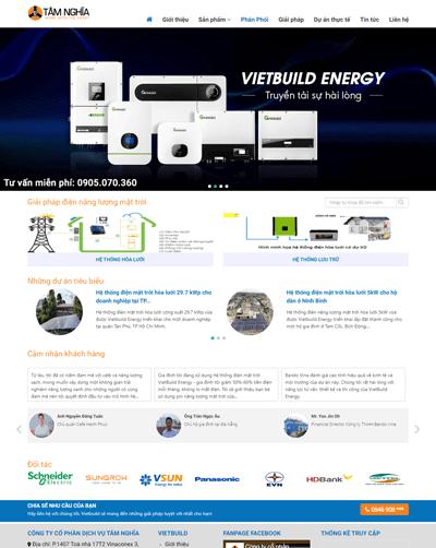 Mẫu website thiết bị điện mặt trời MAU87