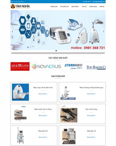 Mẫu web thiết bị dịch vụ y tế MAU89