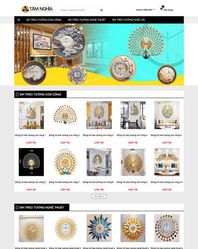Mẫu web bán đồng hồ treo tường MAU90