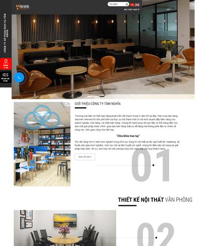Mẫu web nội thất văn phòng MAU96