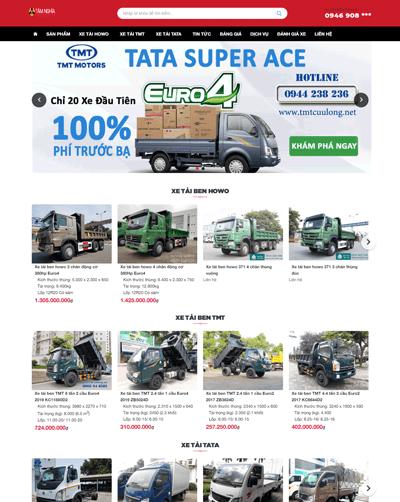 Mẫu web thế giới xe tải MAU97