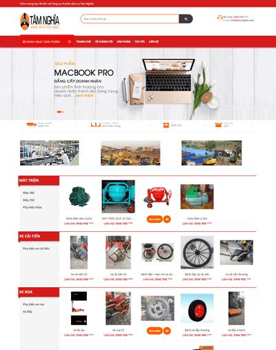 Mẫu web thiết bị xây dựng MAU98