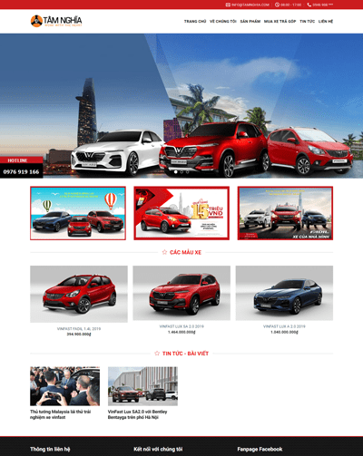 Mẫu web ô tô MAU100