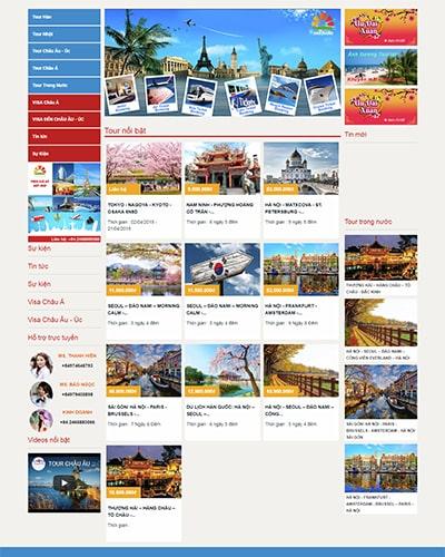 Mẫu website du lịch MS02