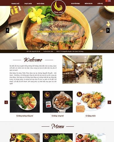 Mẫu website nhà hàng MS05