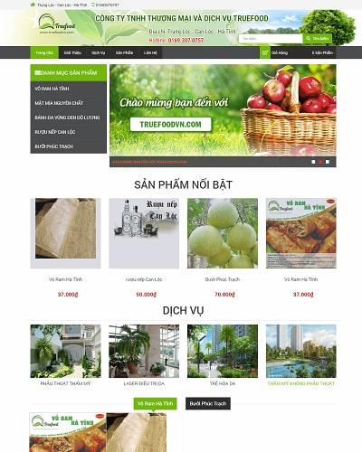 Mẫu website thực phẩm sạch MS07