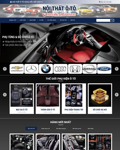 Mẫu website nội thất oto MS17