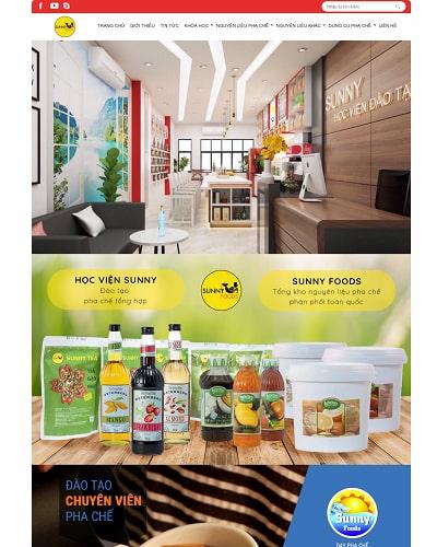 Mẫu website thực phẩm MS19