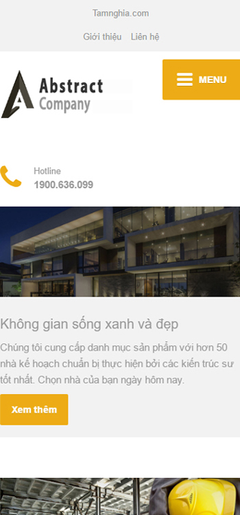 Website Thiết kế khu nhà ơ cao cấp