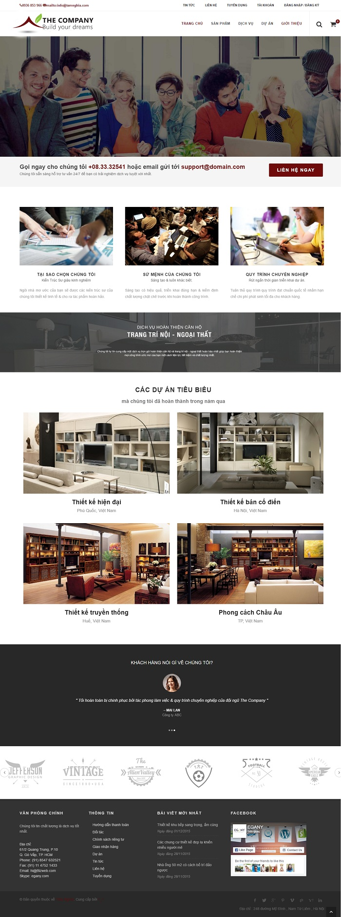 Website Thiết kế nội thất theo phong cách cổ điển , châu âu