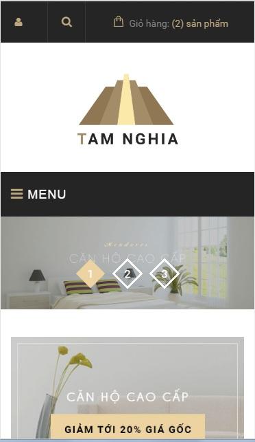 Website  Nội thất nhà ở cao cấp