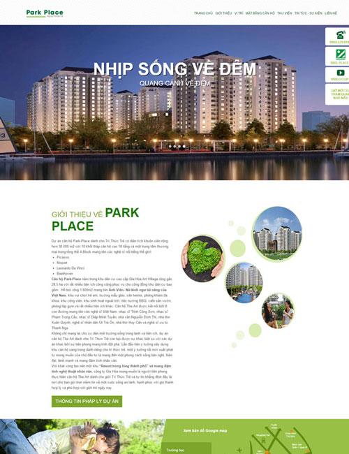 Website Chung cư cao cấp