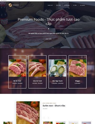Website Thực phẩm cao cấp