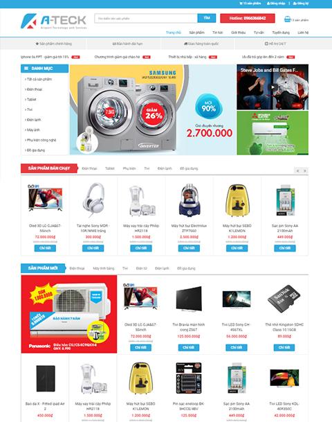 Mẫu website về Siêu thị điện tử