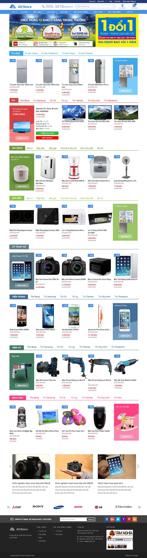 Mẫu website về Điện tử, quạt tản nhiệt , card màn hình
