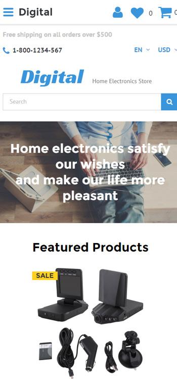 Mẫu website về Máy ảnh, máy quay phim, loa