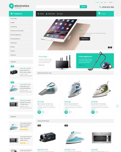 Mẫu website về Bán đồ điện tử , tivi , tủ lạnh , bàn là
