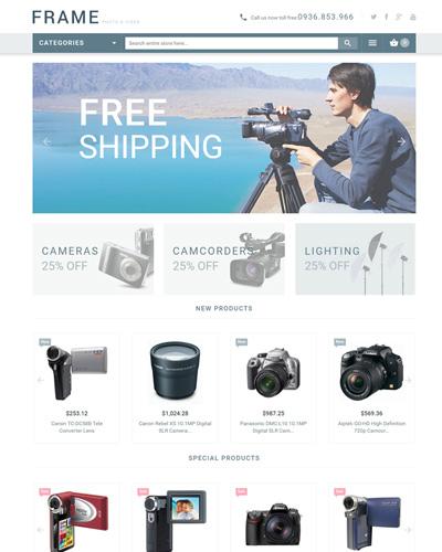 Mẫu website về Bán máy quay phim gia đình , dành cho người chuyên nghiệp