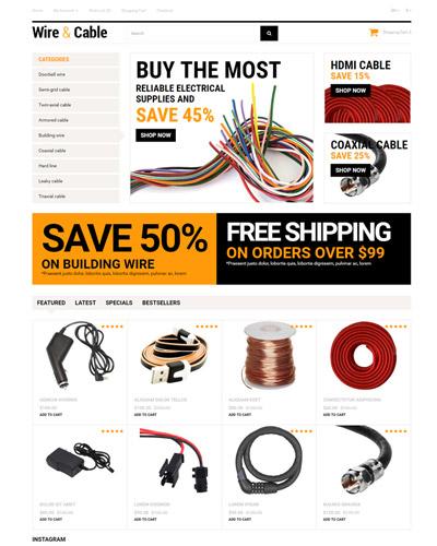 Mẫu website về Bán dây mạng , dây diện , dây cáp