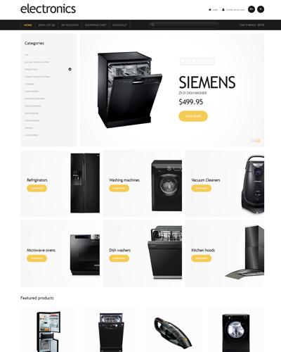 Mẫu website về Bán máy giặt , tủ lạnh
