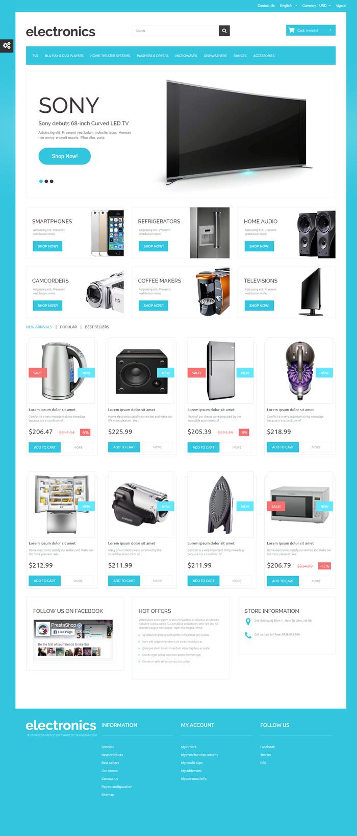 Mẫu website về Bán ấm đun nước , tủ lạnh , lò vi sóng