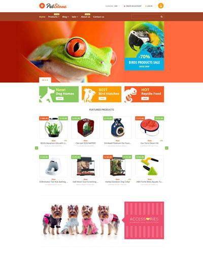 Website Cửa hàng thú nuôi