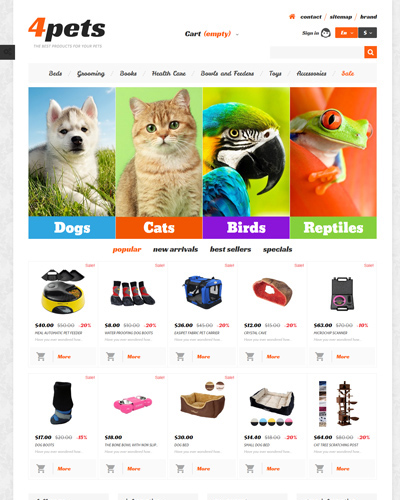 WebsiteCửa hàng thức ăn cho vật nuôi