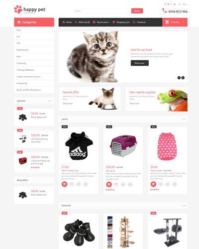 Website Cửa hàng đồ chơi cho thú nuôi