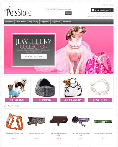 Website Đồ làm đẹp dành cho thú cưng