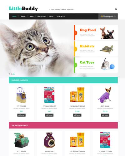 Website Đồ ăn dành cho thú cưng