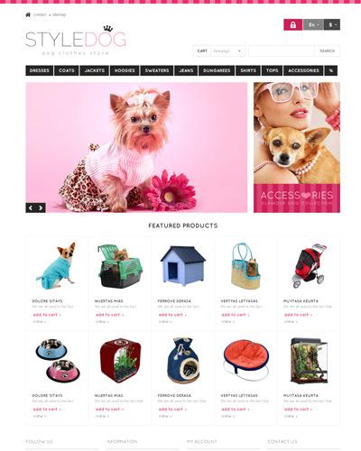 Website Phong cách dành cho Chó