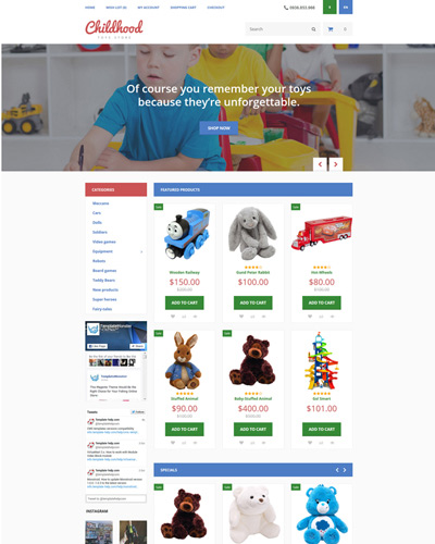 Website Đồ chơi dành cho học sinh mẫu giáo