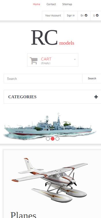 Mẫu website về Bán đồ cho cao cấp  , máy bay , thuyền , cano điều khiển từ xa