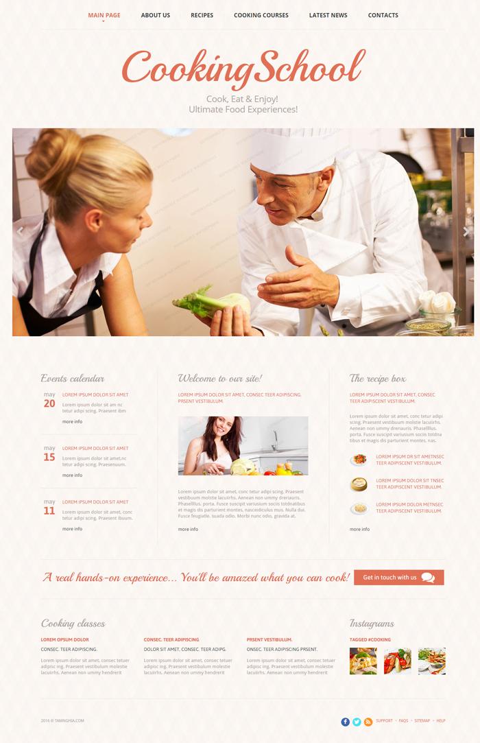 Website   Lớp học nấu ăn