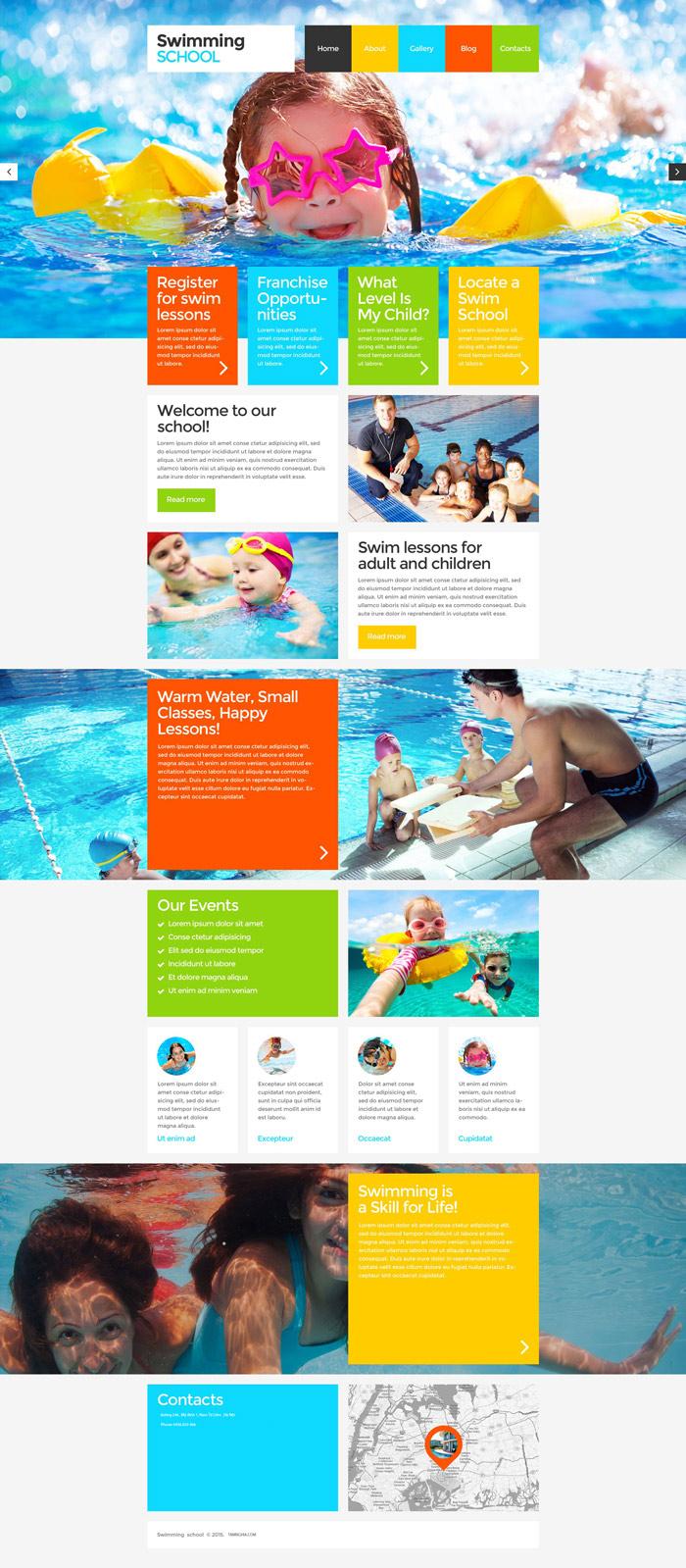 Website Trường dạy bơi lội