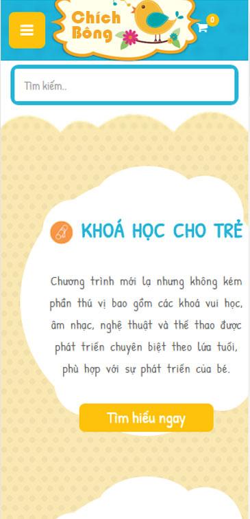 Website  Khóa học dành cho bé