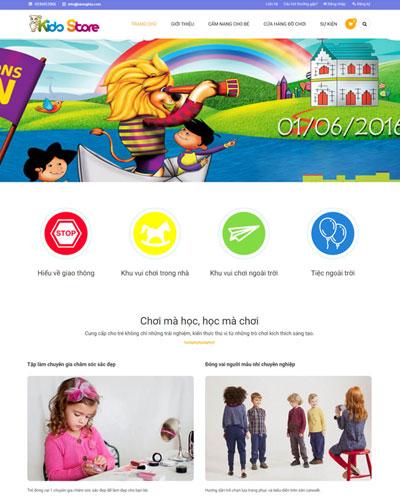 Website  Lớp học vui chơi dành cho bé