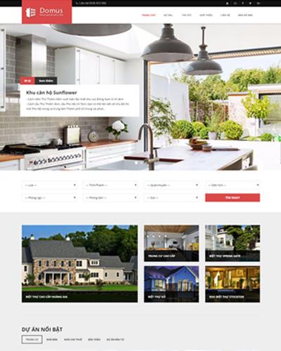 Mẫu website về Dịch vụ xây dựng và thiết kế nhà ở