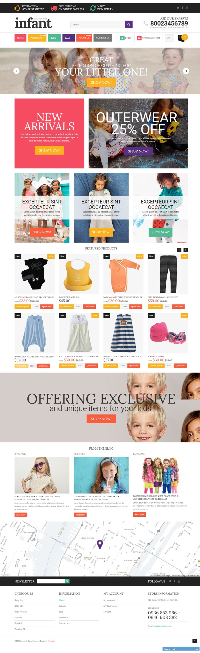 Website  Shop dành cho  trẻ thơ