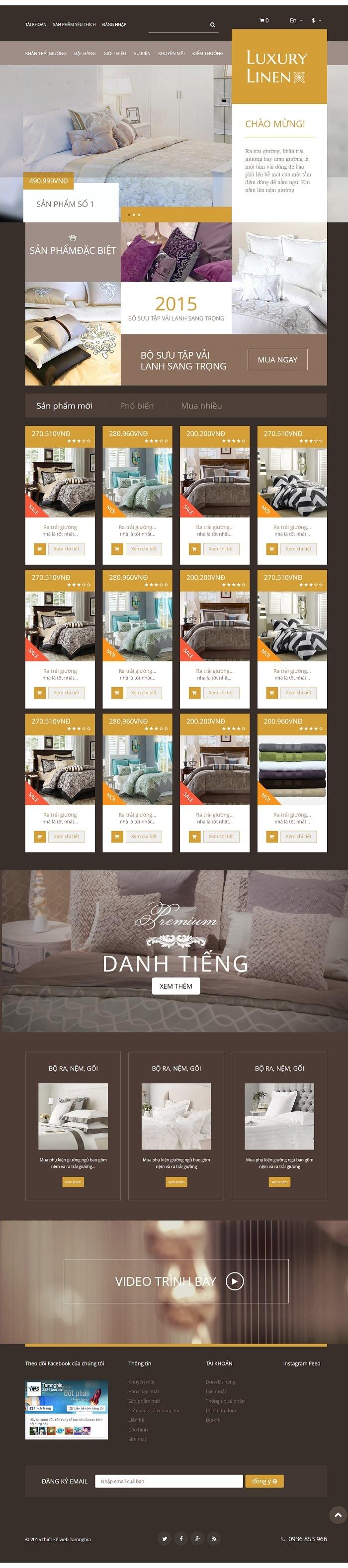 Website  nội thất gường ngủ