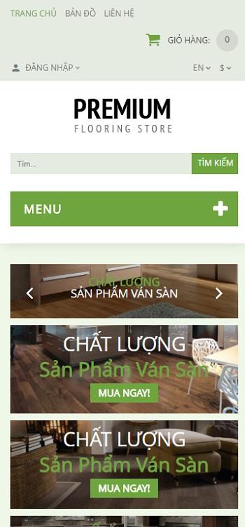 Website nội thất sàn