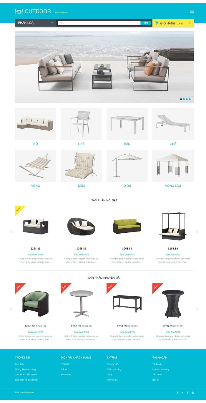 Website  nội thất bàn ghế