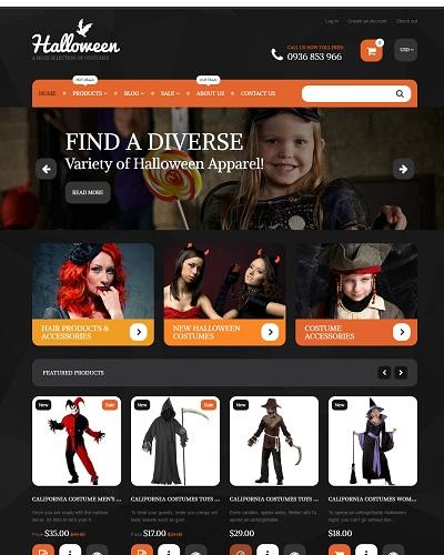 Website Đồ chơi Halloween