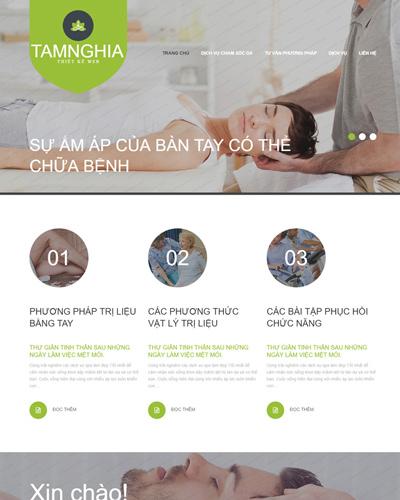 Mẫu website về Spa tư vấn sức khỏe và dịch vụ chăm sóc